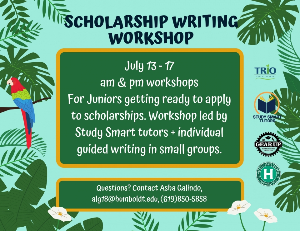 Scholarship Workshop Flyer