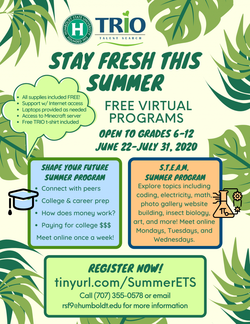 Summer Programs 2020 Flyer