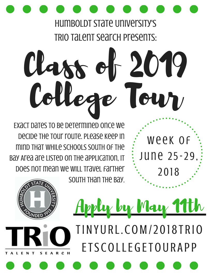 Class of 2019 College Tour