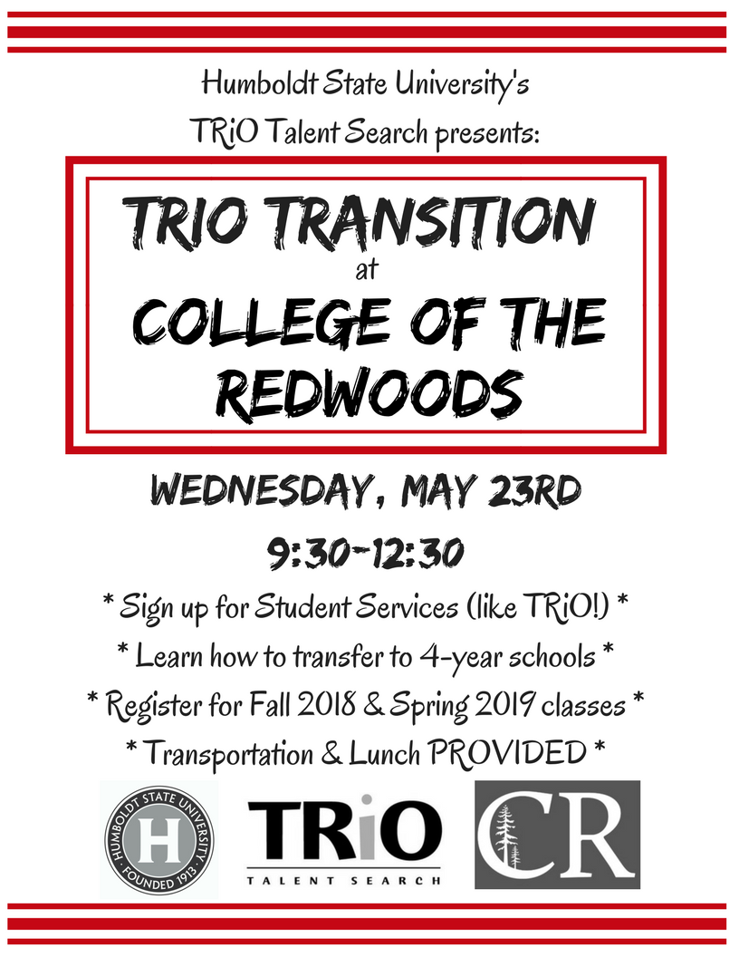 TRiO Transition @ College of the Redwoods